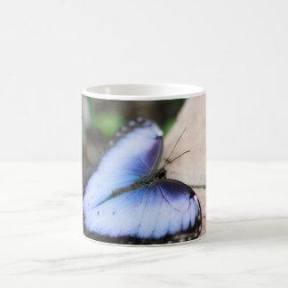 Blue Morpho Butterfly Basic White Mug