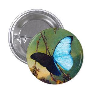 Blue Morpho Butterfly Button