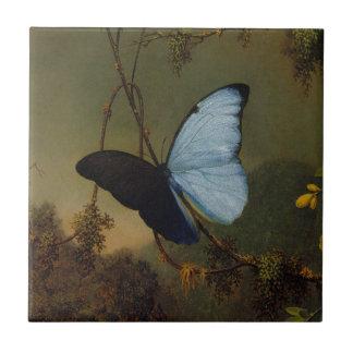 Blue Morpho Butterfly by Martin Johnson Heade Ceramic Tiles
