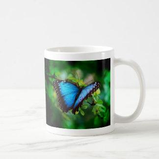 Blue Morpho Butterfly Classic White Coffee Mug