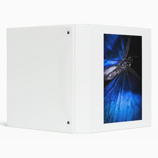 Blue Morpho butterfly closeup Vinyl Binders