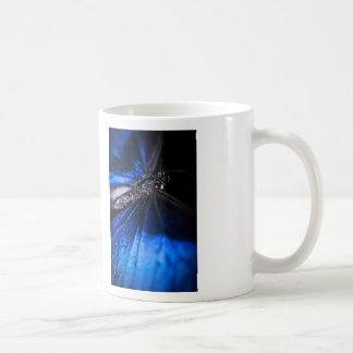 Blue Morpho butterfly closeup Classic White Coffee Mug