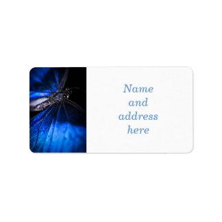 Blue Morpho butterfly closeup Address Label