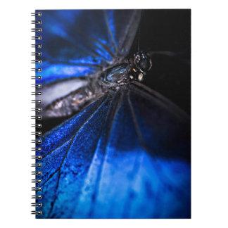 Blue Morpho butterfly closeup Spiral Notebook
