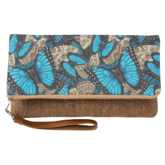 Blue Morpho Butterfly Clutch