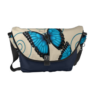 Blue Morpho Butterfly Courier Bags