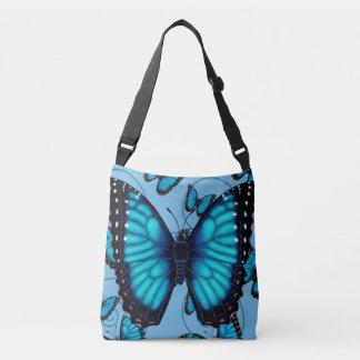 Blue Morpho Butterfly Crossbody Bag