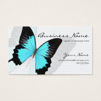 Blue Morpho Butterfly Design Business Cards