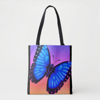 Blue Morpho Butterfly Dorsal and Ventral Tote Bag
