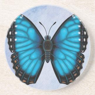 Blue Morpho Butterfly Drink Coaster