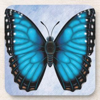 Blue Morpho Butterfly Drink Coasters