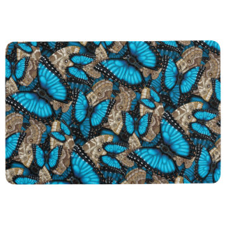 Blue Morpho Butterfly Floor Mat