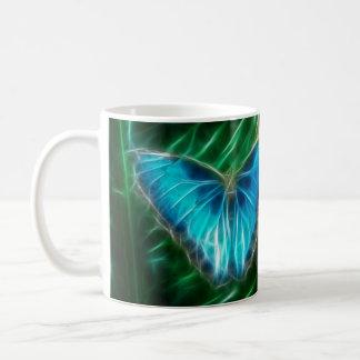 Blue Morpho Butterfly Fractal Classic White Coffee Mug