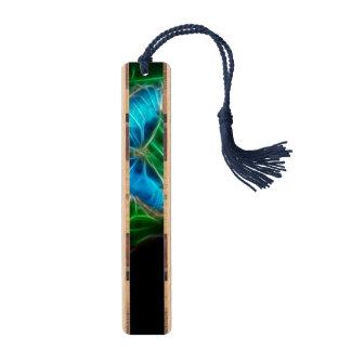 Blue Morpho Butterfly Fractal Maple Bookmark