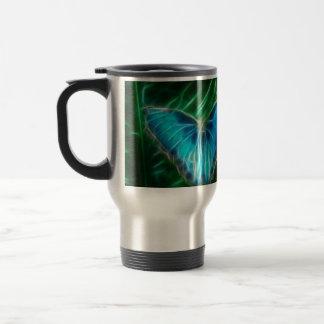 Blue Morpho Butterfly Fractal Mugs