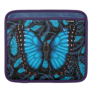 Blue Morpho Butterfly iPad Sleeve