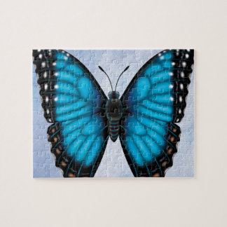 Blue Morpho Butterfly Jigsaw Puzzle