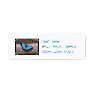 Blue Morpho Butterfly Custom Return Address Labels