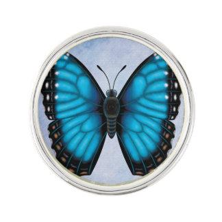 Blue Morpho Butterfly Lapel Pin