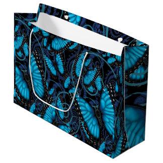 Blue Morpho Butterfly Large Gift Bag
