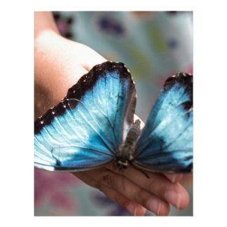 Blue Morpho Butterfly Letterhead Design
