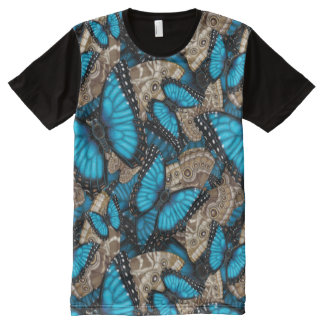 Blue Morpho Butterfly Madness All-Over-Print T-Shirt