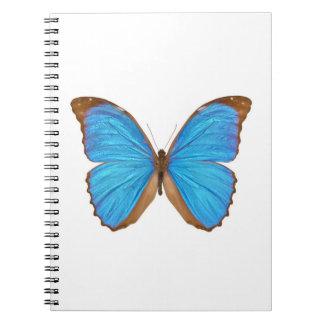Blue Morpho Butterfly (Menelaus Blue Morpho, Morph Spiral Notebooks