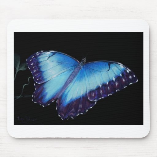 BLUE MORPHO Butterfly Mousemats