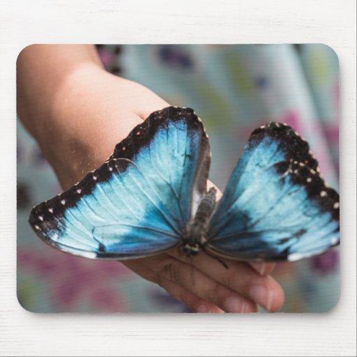 Blue Morpho Butterfly Mousepad