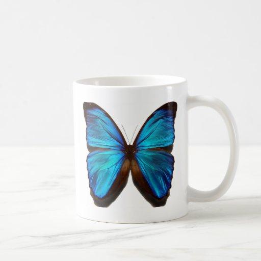 Blue Morpho Butterfly Coffee Mugs