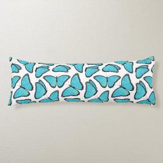 Blue Morpho Butterfly Pattern Body Pillow