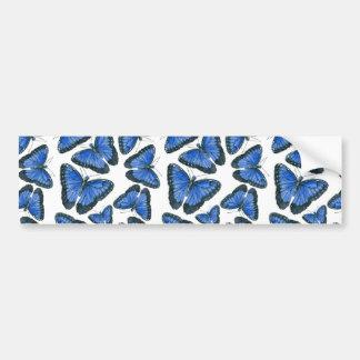 Blue morpho butterfly pattern design bumper sticker