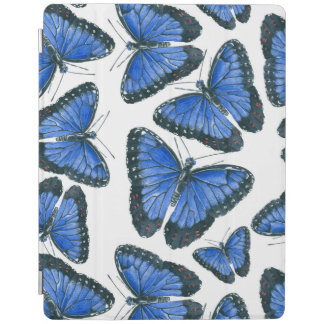 Blue morpho butterfly pattern design iPad cover