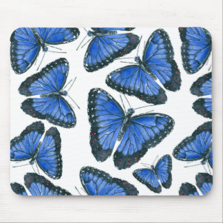 Blue morpho butterfly pattern design mouse pad