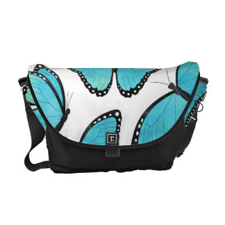 Blue Morpho Butterfly Pattern Courier Bags
