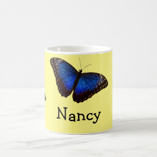 Blue Morpho Butterfly personalized Classic White Coffee Mug