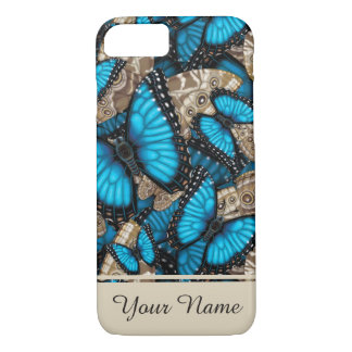 Blue Morpho Butterfly Personalized iPhone 8/7 Case
