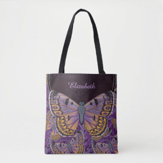 Blue Morpho Butterfly Personalized Tote Bag