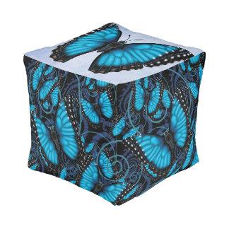 Blue Morpho Butterfly Pouf