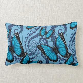 Blue Morpho Butterfly Reversible Lumbar Pillow