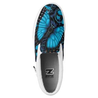 Blue Morpho Butterfly Slip-On Sneakers