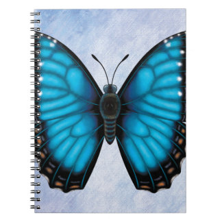 Blue Morpho Butterfly Spiral Notebooks