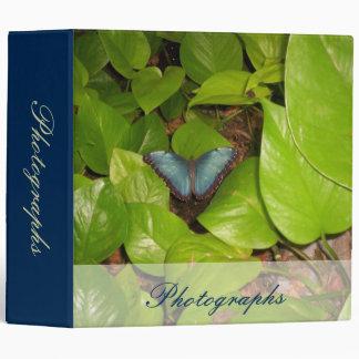Blue Morpho Butterfly Vinyl Binders