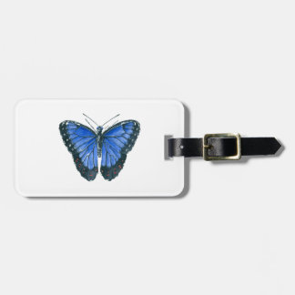 Blue Morpho butterfly watercolor painting Luggage Tag