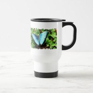 Blue Morpho Drinking Vessel 15 Oz Stainless Steel Travel Mug