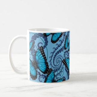 Blue Morpho Fractal Butterfly Coffee Mug