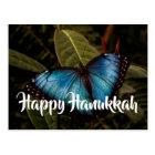 Blue Morpho, Happy Hanukkah Postcard