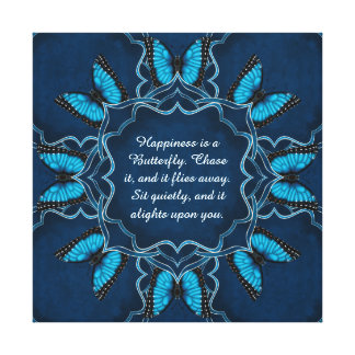 Blue Morpho Mandala Canvas Print