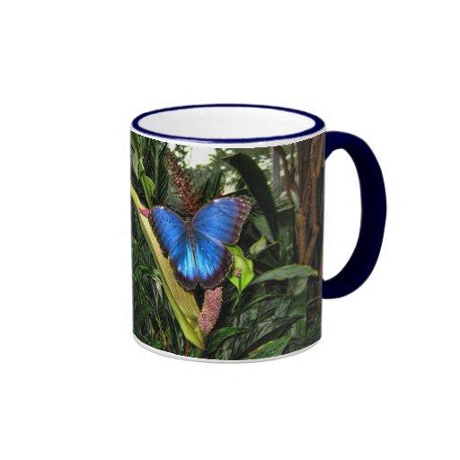 Blue Morpho Peleides Mugs