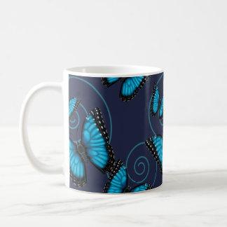 Blue Morpho Swirl Butterfly Coffee Mug